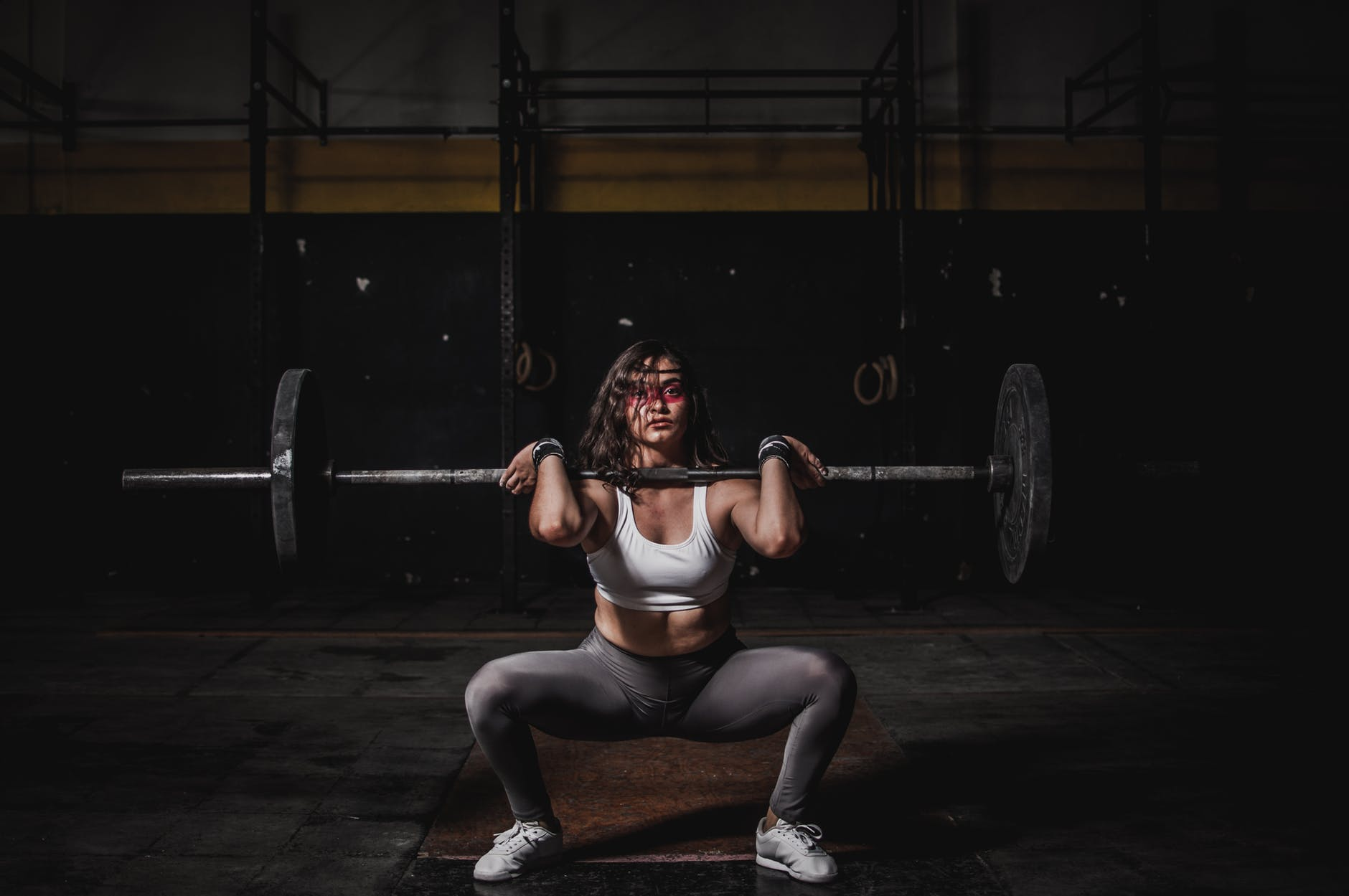 woman front squatting